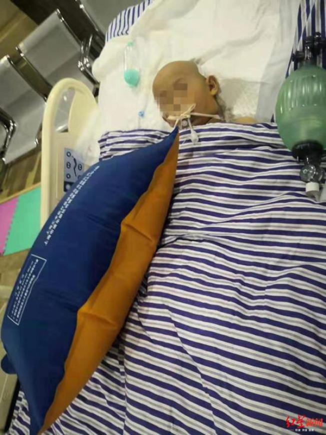 樊姓學童腦部受傷正在搶救。(取材自紅星新聞)