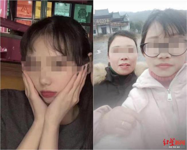 受害的韋姓(左)與肖姓(右一)兩名女大學生是同班同學。(取材自紅星新聞)