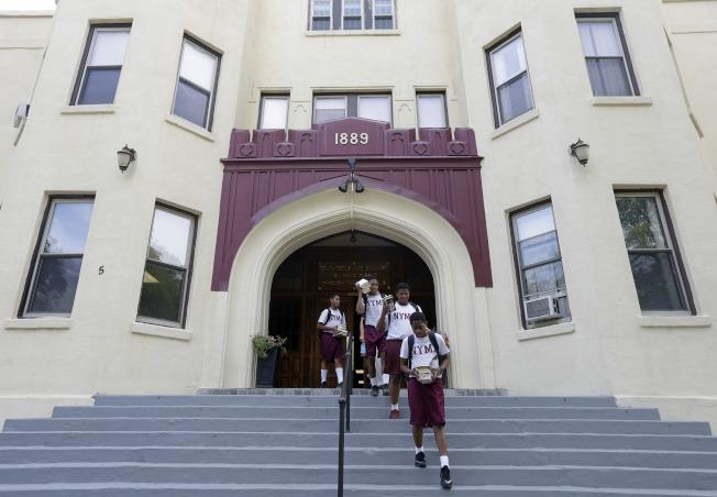 川普總統曾就讀紐約上州的紐約軍校。(美聯社)