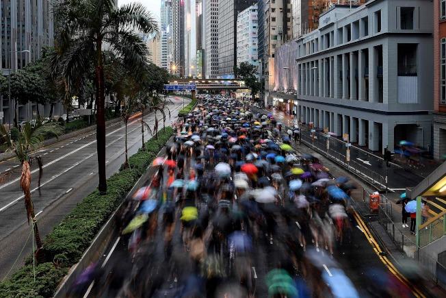 香港170多萬人818街頭聚會,和平順利。(美聯社)
