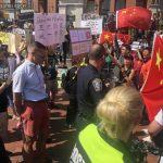 波士頓香港集會 支持、反對者「對唱」示威