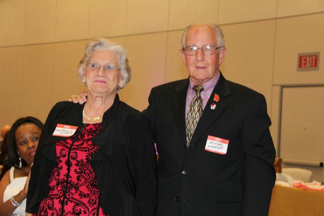 石頭山市市長Patricia Wheeler及夫婿Morgan。(記者陳淑玲/攝影)