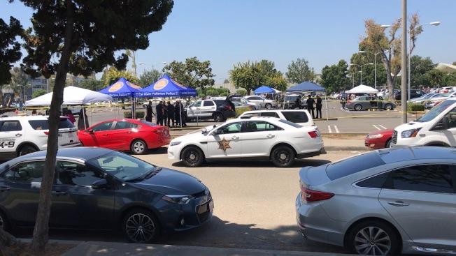 兇案發生在富樂頓州大南邊校區的停車場。(記者啟鉻/攝影)
