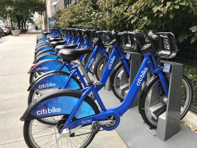 Citi Bike為政府樓住戶和持糧食券者提供30天的免費騎行優惠。(記者鄭怡嫣/攝影)