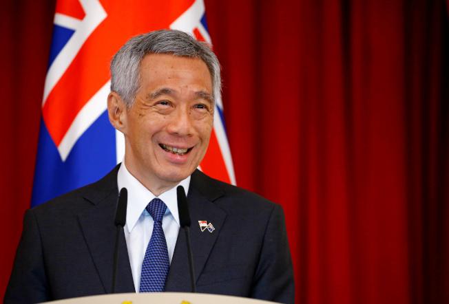 新加坡總理李顯龍指出,在未來100年興建因應海平面上升的沿海防禦性措施。(路透)