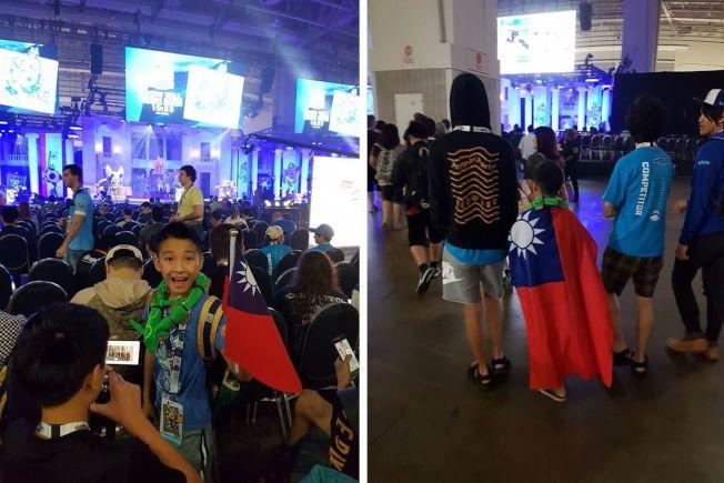 今年10歲的吳比得到寶可夢世界錦標賽冠軍,比賽過程中他隨身攜帶的國旗,甚至披著國旗應戰。(截自巴哈姆特)