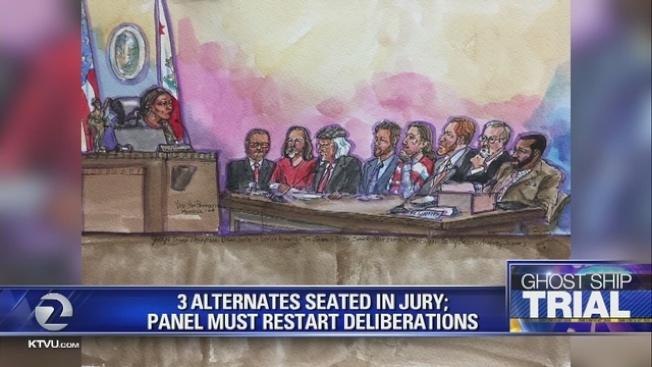 幽靈船大火案法官出人意料辭退三名陪審員,並要求重審。(電視新聞截圖)