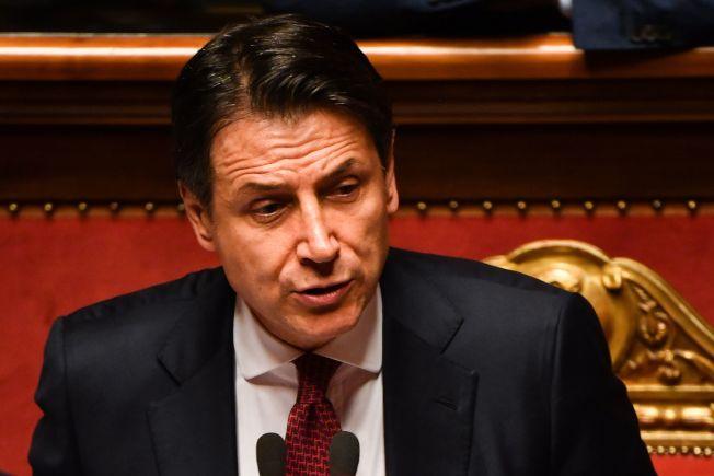 義大利總理孔蒂20日宣布辭職。(Getty Images)