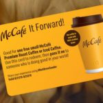 McCafé It Forward酬賓活動 今起連續三天接龍式舉行