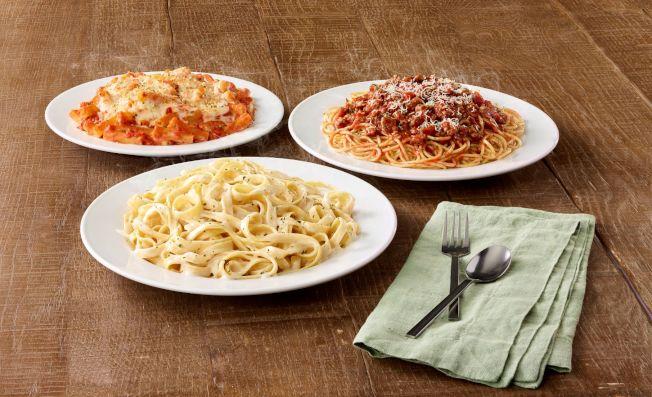 Olive Garden推出全年五元外賣家常餐,三款任選。(公關提供)