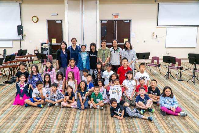 南海岸中華樂團及鼓團為期四天半的夏令營讓學生在學習樂器上取得一定進步和成效。(南海岸中華文化中心提供)