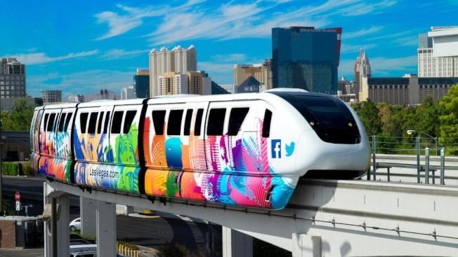 賭城單軌電車延伸計畫未獲州長同意撥款。(單軌電車網照)