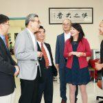 蔡偉參訪中國人中心、華夏中文學校