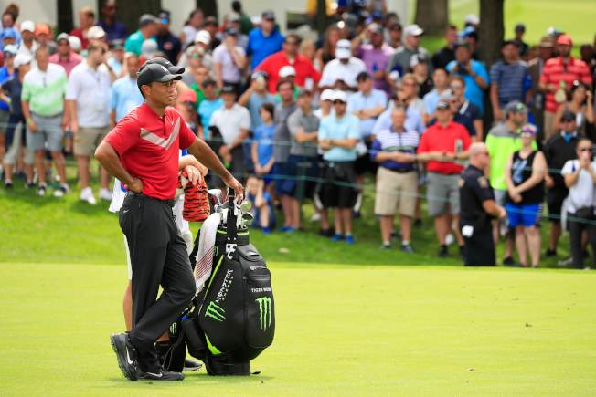 伍茲去年在巡迴錦標賽結束5年冠軍荒,可惜今年沒能重回福地。(Getty Images)