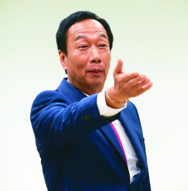 周刊報導鴻海創辦人郭台銘其實準備好兩套參選劇本。(本報資料照片)