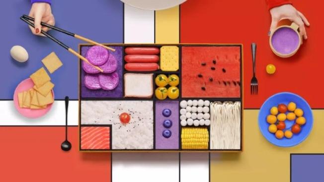 90後女孩的創意食物攝影,賦予食物繽紛多彩的風格。(取材自微博)