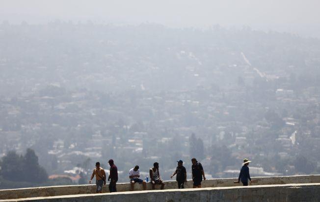 美國加州洛杉磯的空氣品質在今年7月5日達到「不健康」程度。Getty Images