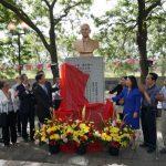 芝華埠孫中山銅像整修完工