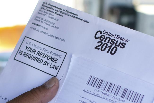 圖為2010年人口普查檔案照。(美聯社)