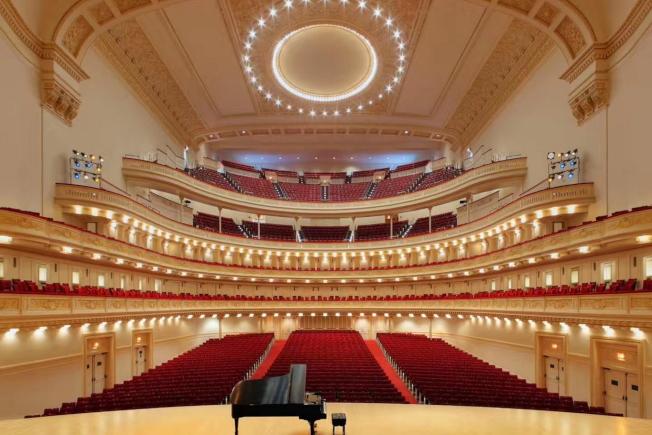 紐約著名的卡內基音樂廳一景。(王蔚蔚提供)