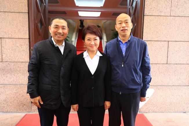 新北市長侯友宜(左起)、台中市長盧秀燕與高雄市長韓國瑜。(圖:台中市新聞局提供)