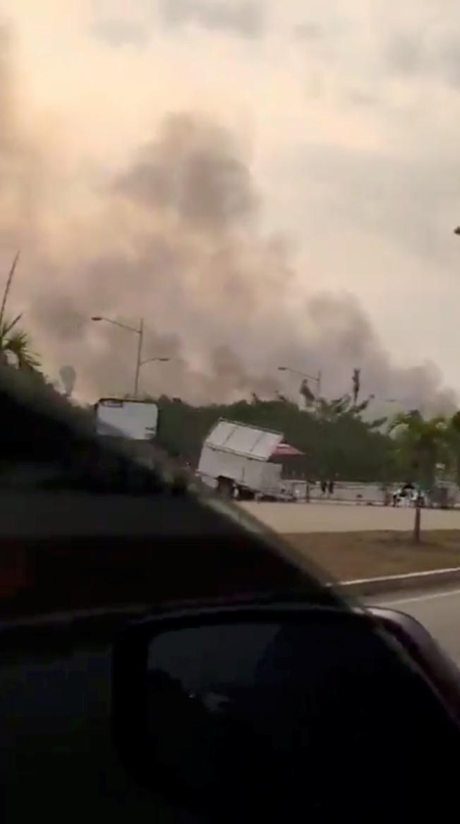 巴西北部靠近亞馬遜雨林區的山火嚴重,濃煙敝天。(路透)