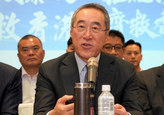 香港特首林鄭月娥將構建對話平台,前政務司司長唐英年入列首批對話名單。(中通社)