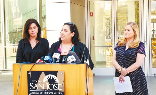 大蒜節遇害男孩是聖荷西市議員埃斯帕薩(右)的堂弟。(記者梁雨辰/攝影)