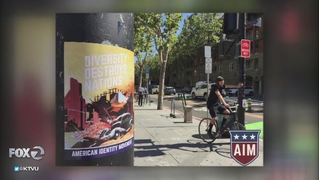 31 聖荷西州大校園出現多張種族歧視海報。(電視新聞截圖)