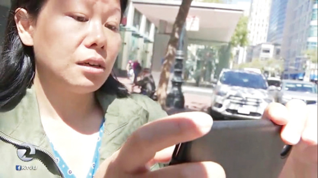 華裔自由撰稿電視媒體工作者邵珍妮(音譯,Jenny Shao)。(圖:推特照片)