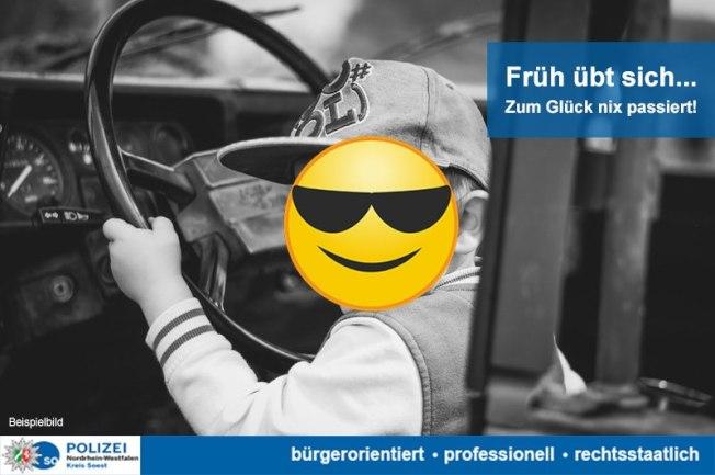 德國8歲男童偷開車,還飆到時速140公里,但身體受不了。(取材自臉書)