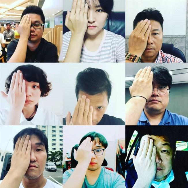 南韓藝人金義聖在臉書和IG發起活動,呼籲網友拍攝遮起右眼的照片並上傳網路,受到網民響應。(圖取自金義聖IG網頁instagram.com/lunatheboy)