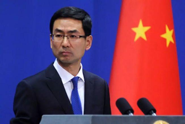 中國外交部發言人耿爽。(取材自 環球網)