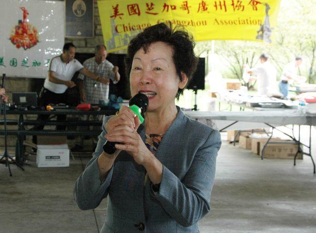 廣州協會會長勞潔梅會上表示協會一直尊老愛幼的優良傳統。