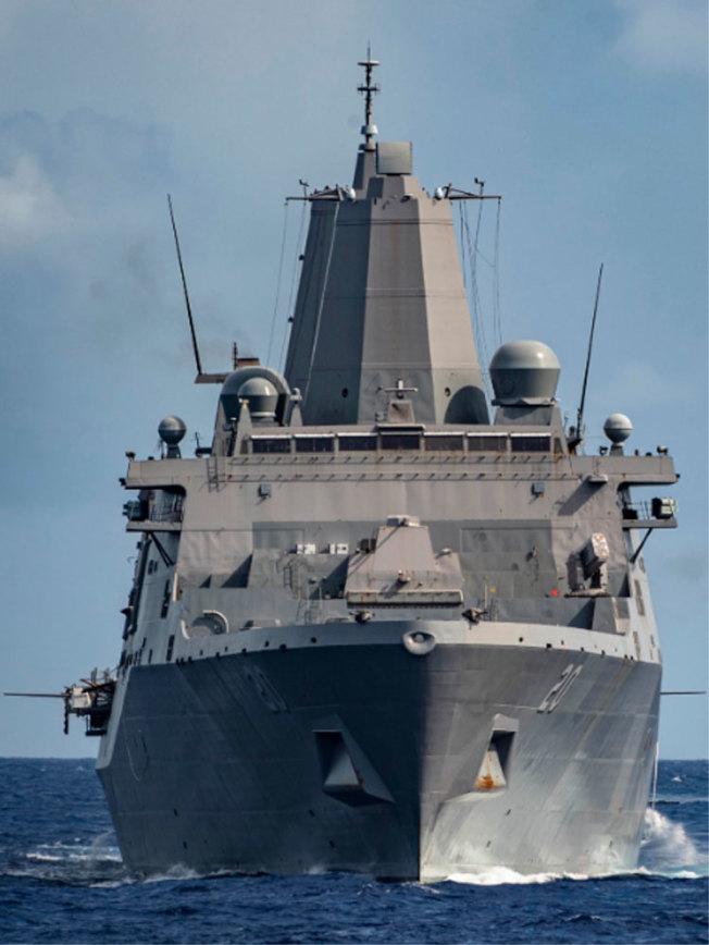 美國軍艦「綠灣號」。歐新社