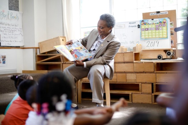 芝加哥市長萊特福特表示,是時候讓每一個芝加哥孩子接受有品質教育了。(芝加哥市長辦公室)