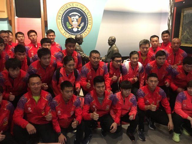 乒乓外交40年 中國隊訪尼克森圖書館