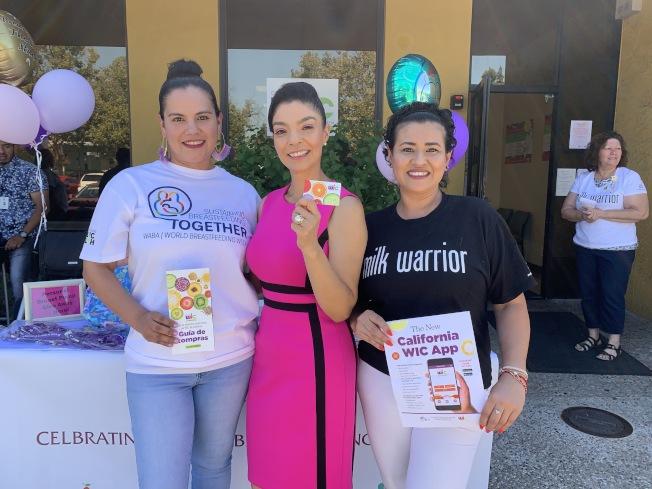 8月為全國哺乳提倡日,聖荷西Gardner醫療中心舉辦母乳捐贈活動,並邀請多個健康團體進行社區宣導。(記者林亞歆/攝影)