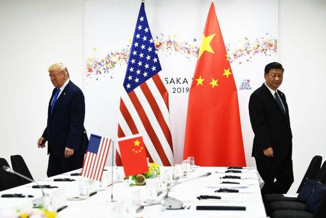 美國總統川普23日在推特發文抨擊中國大陸國家主席習近平。圖為兩人6月29日出席大阪高峰會資料照片。圖╱GettyImages