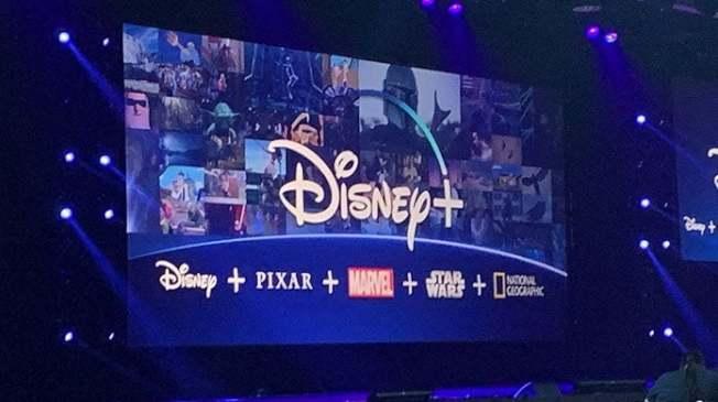 今年D23博覽會上,迪士尼重點展示了11月將開始運營的Disney+內容。 (記者馬雲/攝影)