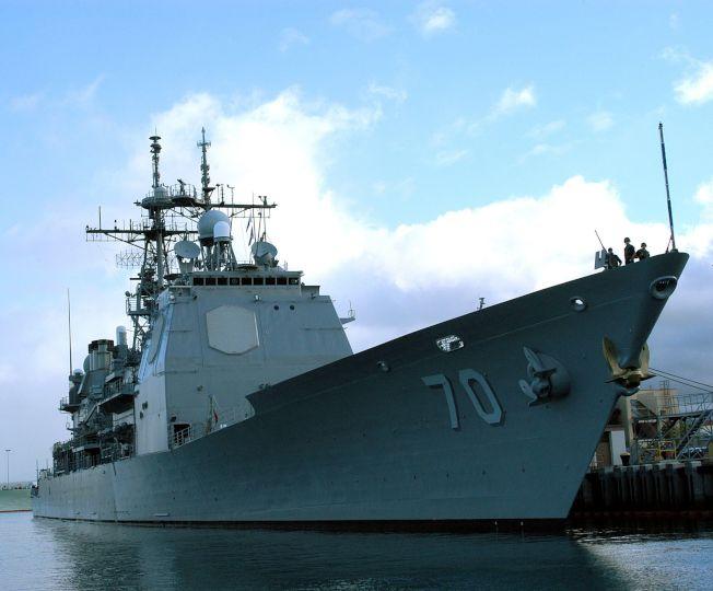 圖為原訂今年9月造訪香港但遭北京當局拒絕的巡洋艦「伊利湖號」。 (維基百科)