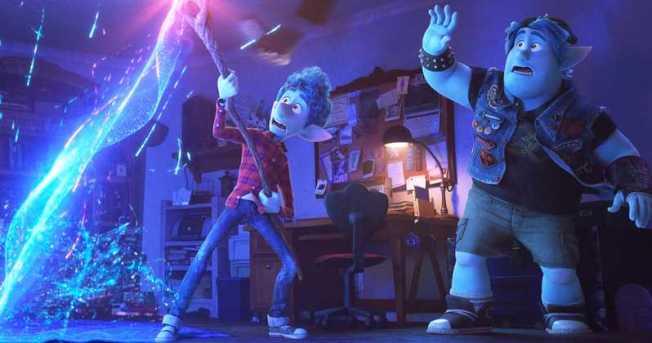 湯姆荷蘭依与克里斯普瑞特D23博覽會宣傳迪士尼皮克斯动画新作「勇往直前」,这部定档明年3月上映。(迪士尼圖片)