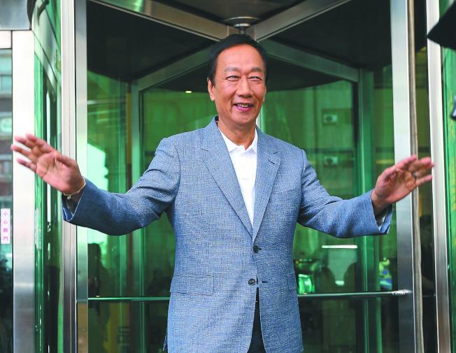 鴻海集團創辦人郭台銘會不會出馬選總統,外界關注。(本報資料照片)