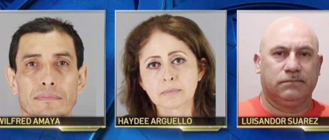 一名15歲少女的三名父母(見圖),被警方逮捕和起訴毆打和仇退犯罪,因他們在女兒房間中發現一少年並且毆打他;少女是西裔,而少年是非裔。(圖:聖布魯諾警察局)