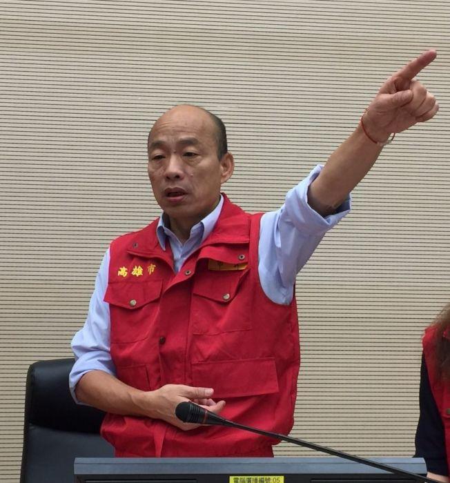 高雄市長韓國瑜。(記者楊濡嘉/攝影)