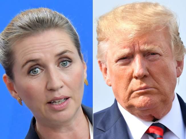 川普計畫在格陵蘭開設美國領事館;丹麥總理佛瑞德里克森(左)辦公室23日表示,雙方已通過電話。(Getty Images)
