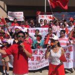反港獨 僑團舉行大規模集會