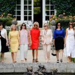 〈圖輯〉G7峰會元首夫人 衣Q爭艷逛花園
