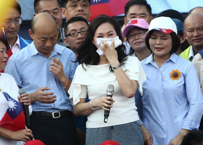 高雄市長韓國瑜妻子李佳芬(中)。(本報系資料照片)