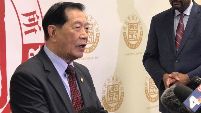 著名華裔刑偵專家李昌鈺在記者會上表明立場。(記者啟鉻/攝影)
